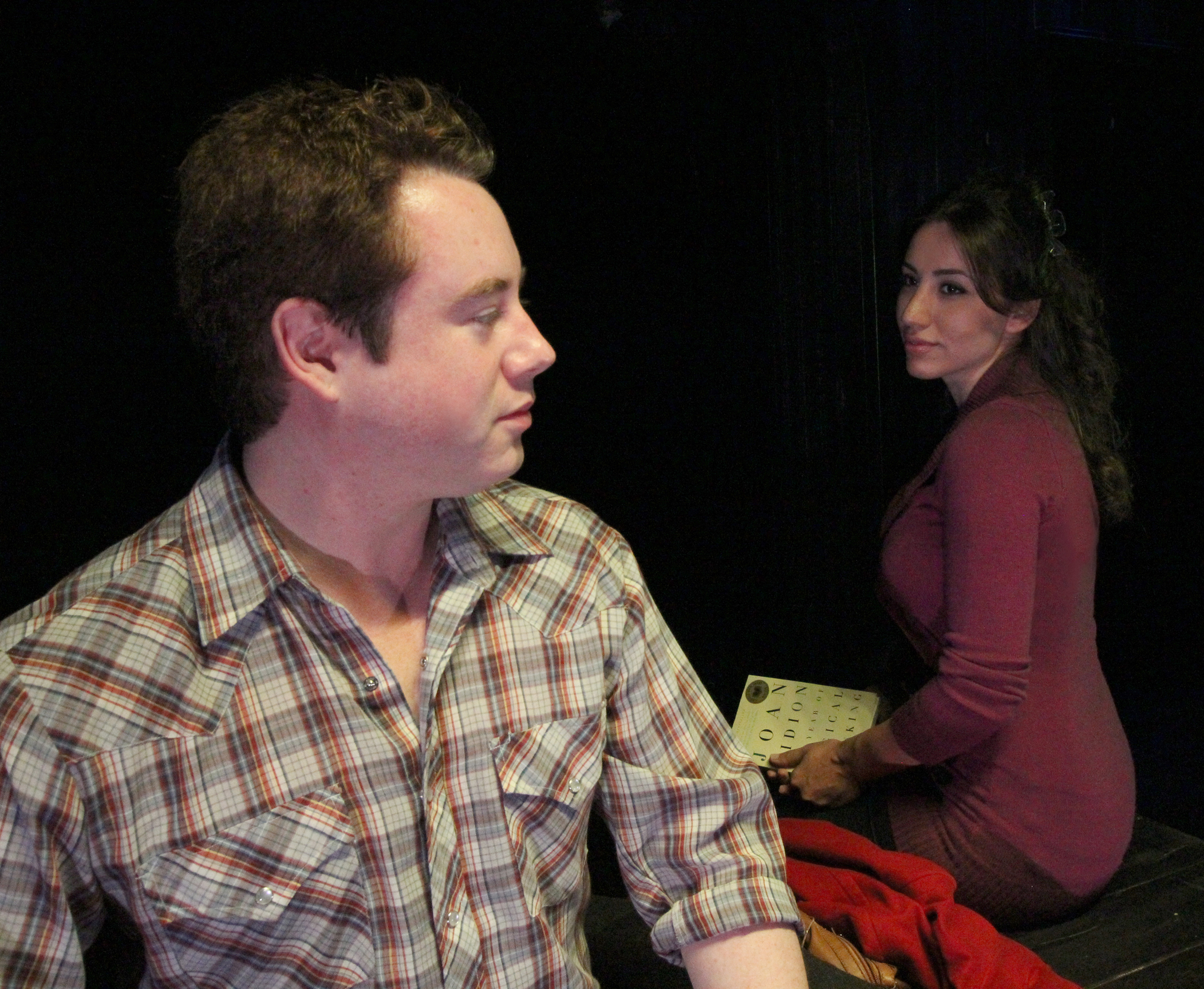 Julie Asriyan & Hunter Thore in premiere of The Bump by Israel Horovitz . Flea Theater