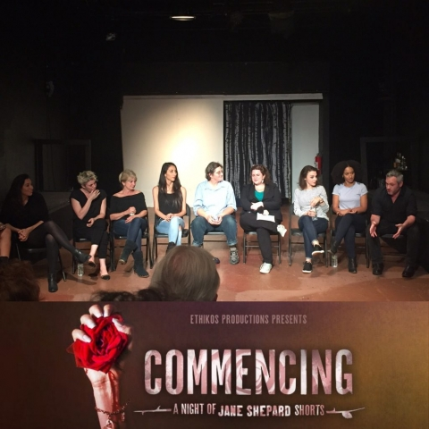 """Panel discussion with cast of """"Commencing"""" with playwright Jane Shepard and Parity Productions"""