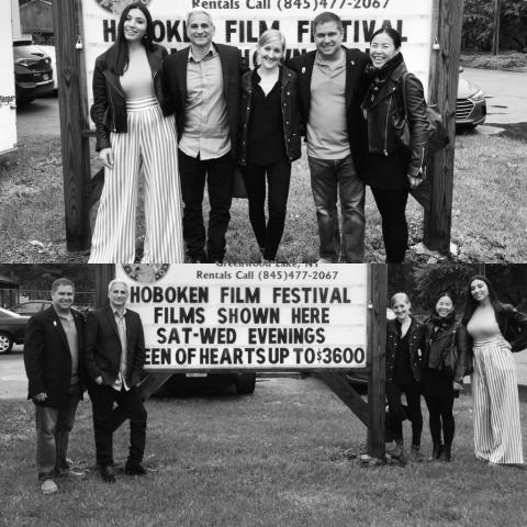 With cast mates at Hoboken International Film Festival premiere of 'Kryptonights'