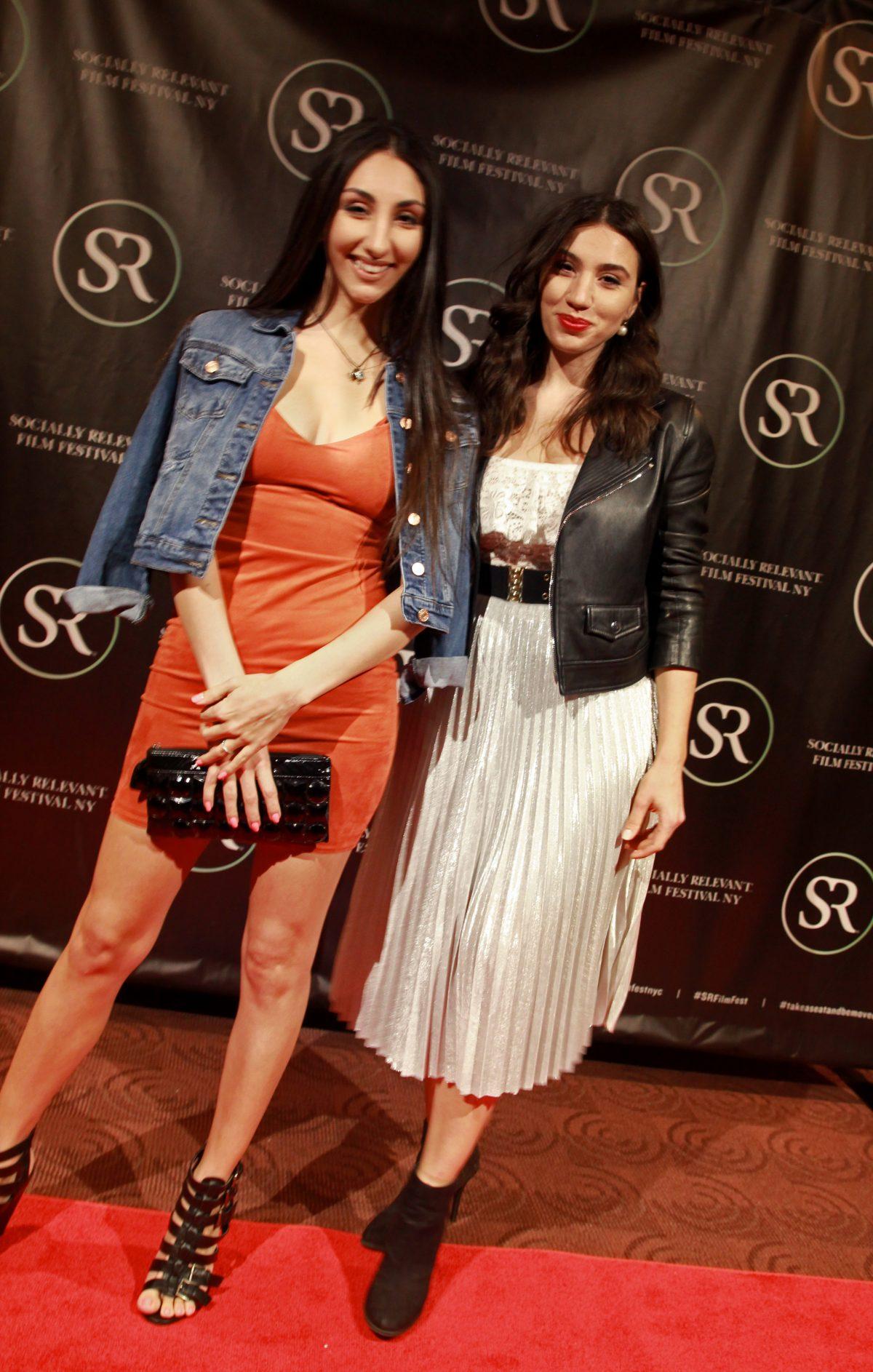"Julie Asriyan & sister Kristina Asriyan at Socially Relevant Film Festival premiere of ""Crossing The Line"" , starring Kristina."