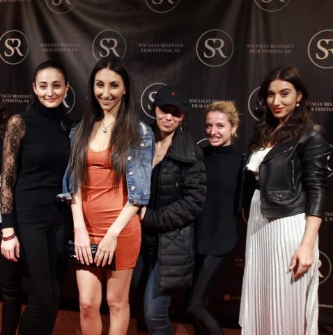 "Socially Relevant Film Festival premiere of ""Crossing The Line"" , starring Kristina Asriyan."