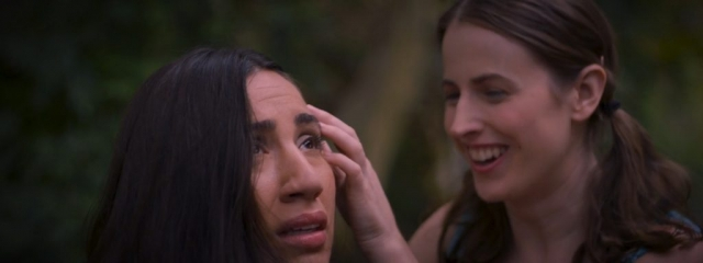 "Julie Asriyan as ""Grace"" with Jennifer Suter as ""Lucy"" in Game Over film directed by J. Amanda Sabater"