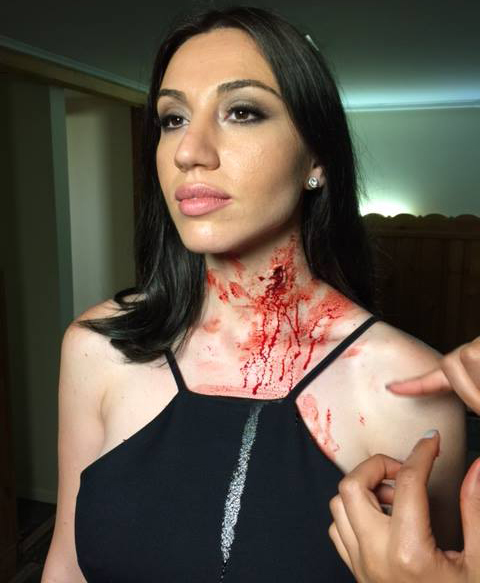 BTS Julie Asriyan as Maria in feature film Kryptonights