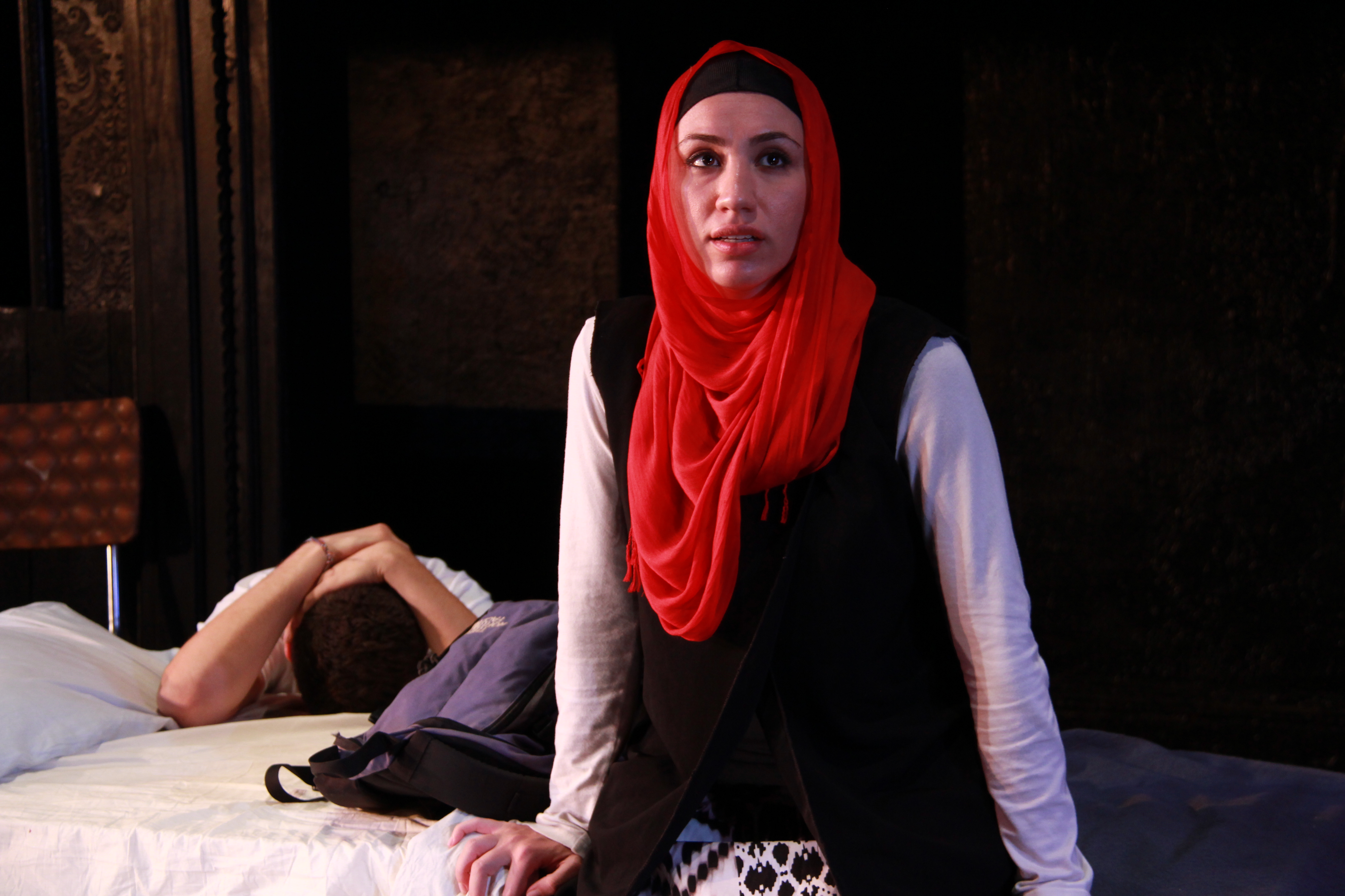 "Julie Asriyan as ""Nasa"" in Beirut Rocks by Israel Horovitz . The Flea Theater."